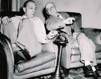 Buster Keaton and Charlie Sharp 1949