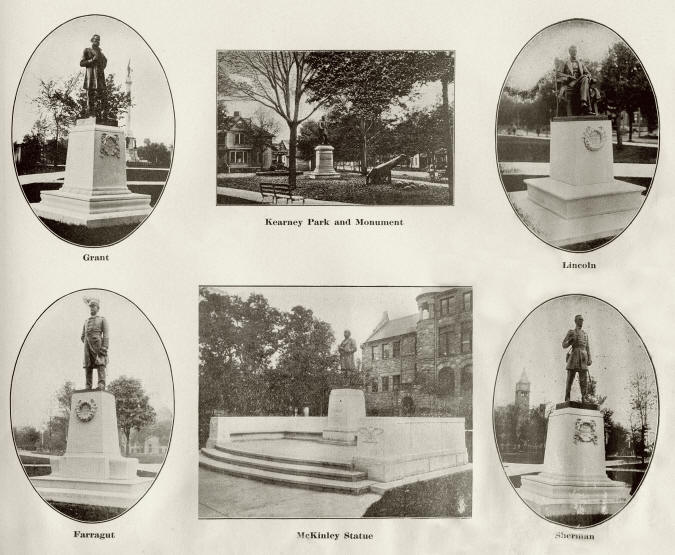 Statues at Hackley Park